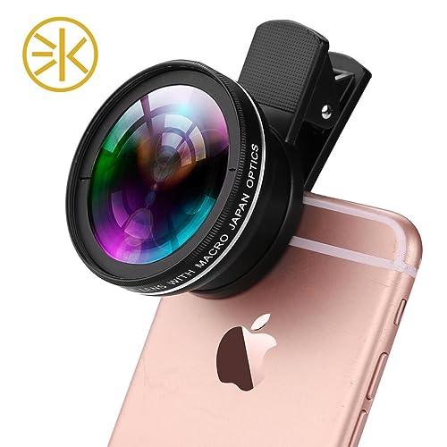 3Keys Universal Professional HD Camera Lens Kit (0.45x Super Wide Angle Lens+12.5x Super Macro Lens+37mm Thread Clip Holder)