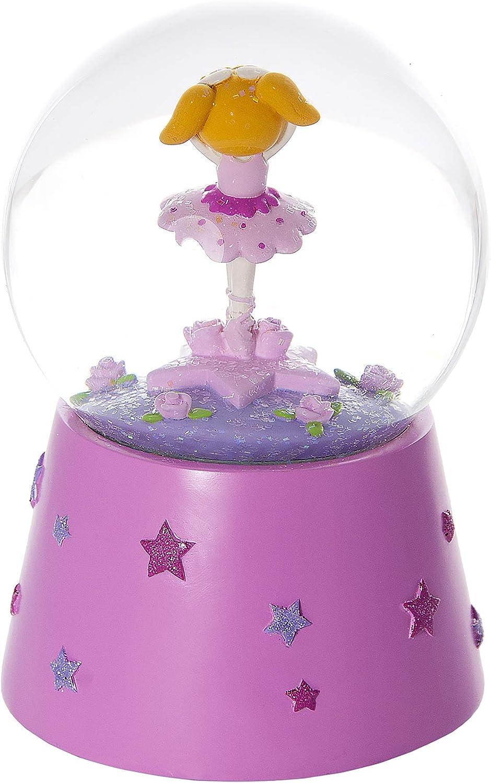 Mousehouse Gifts Snow Globe Musical Music Box Pink Ballerina Kids Ballet Gift for Little Girls