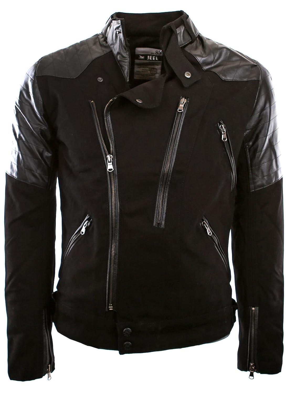 JEEL J306 Black Biker Jacket Light Jacket Size M-XXL Jacket
