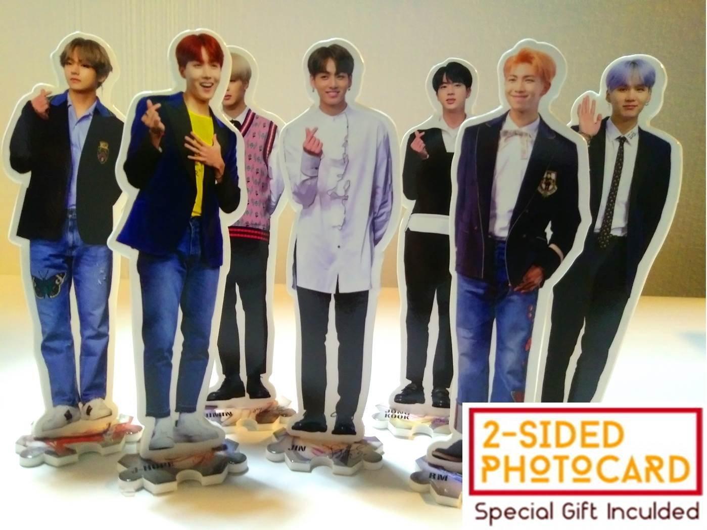 Big hit FanGoods BTS BANGTAN BOYS - MINI STAND-UP STANDING FIGURE MINIATURE (10.2 x 7.5 inch)