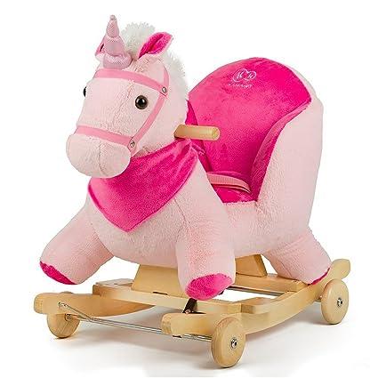 Cavallo A Dondolo Con Ruote.Kk Kinderkraft Cavallo A Dondolo E Con Ruote Peluche E Legno