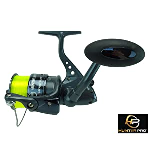 TR40R Black Fishing Reels Loaded with 8LB Line For Coarse Match Lake River