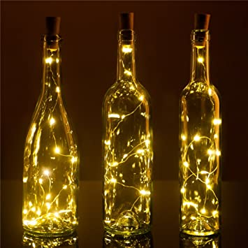 Perfect Recycle Wine Bottle Lights Pro, 3 Pack ,15LEDS, DIY Empty Liquor Lamps,