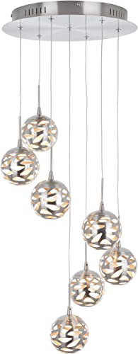 Artika AVE7-SS-HD1 7th Avenue Suspended Indoor Light Fixture, 14-inches with Dimmable Light and a Satin Nickel Finish
