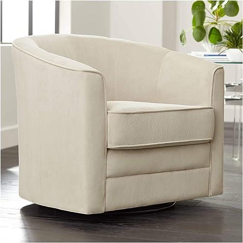 Keller Argos Muse Pearl Velvet Swivel Chair – Studio 55D