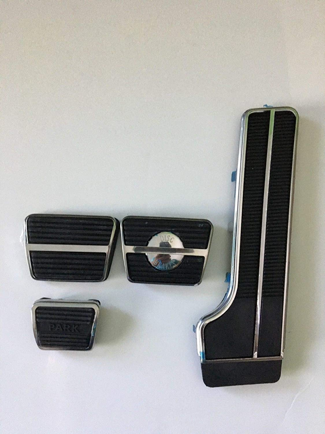 Classic Headquarters 64 65 66 67 Chevelle and El Camino Pedal Pad Kit Manual with DiscStainless Trim
