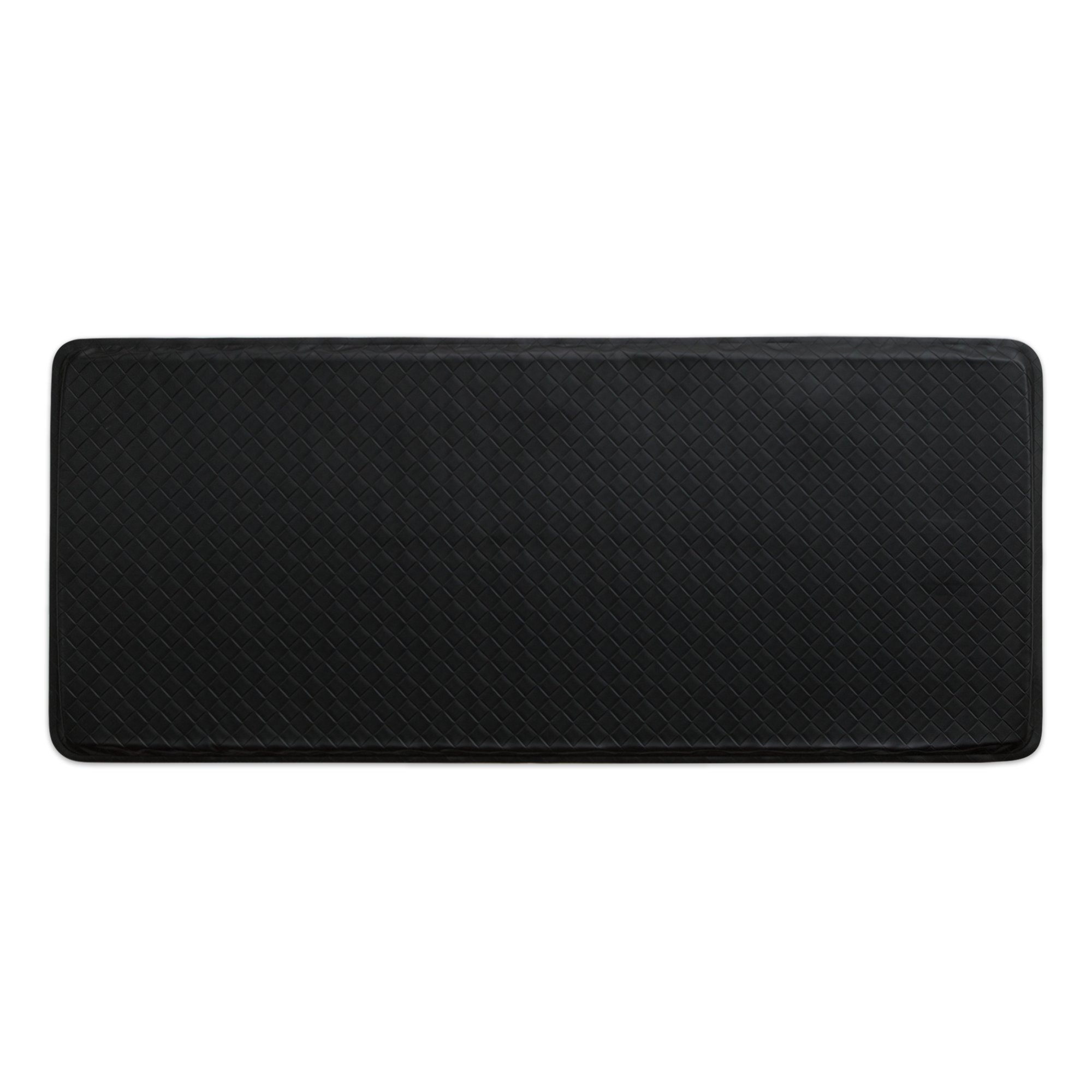 """GelPro Classic Anti-Fatigue Kitchen Comfort Chef Floor Mat, 20x48"""", Basketweave Black Stain Resistant Surface with 1/2"""" Gel Core for Health and Wellness"""