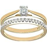 Naava 9ct Yellow Gold 0.33ct Diamond Bridal Set Ring