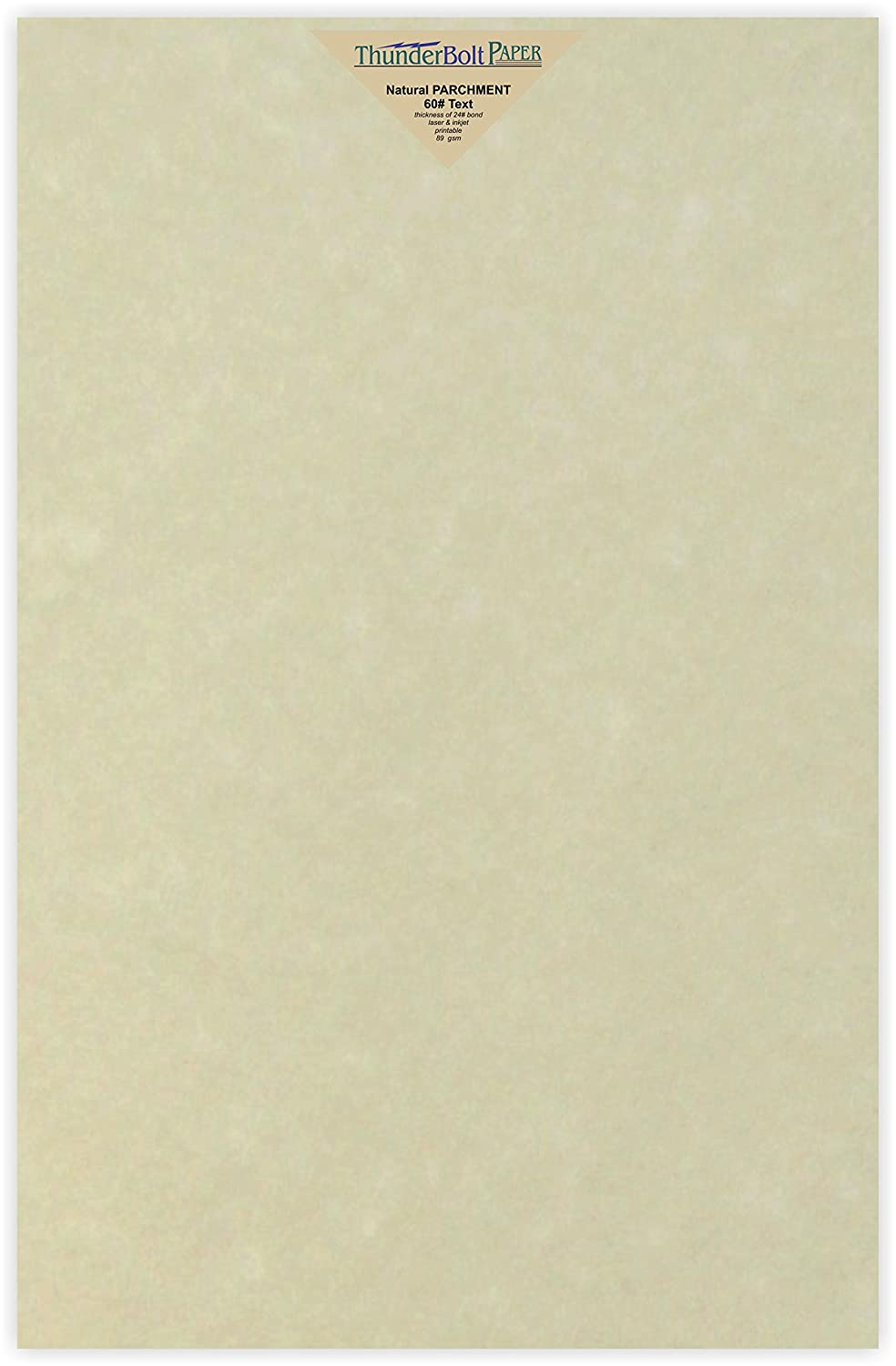 100 Natural Parchment 60# Text (=24# Bond) Paper Sheets - 11 X 17 (11X17 Inches) Tabloid|Ledger|Booklet Size - 60 Pound is Not Card Weight - Vintage Colored Old Parchment Semblance TBP 4336882429