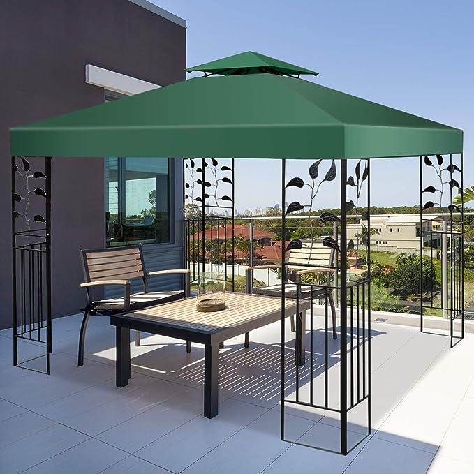 Costway - Techo de repuesto para cenador de jardín - Cobertura de repuesto - Cenador de 3 x 3 m, Verde: Amazon.es: Jardín