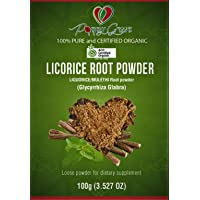 Pure Licorice/Liquorice Powder (Glycyrrhiza glabra) Organic Certified 100% Natural Therapeutic Grade 100gm