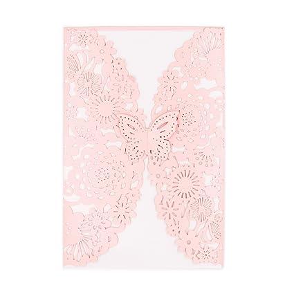 amazon com binggogo 30x pearl paper laser cut invitations for