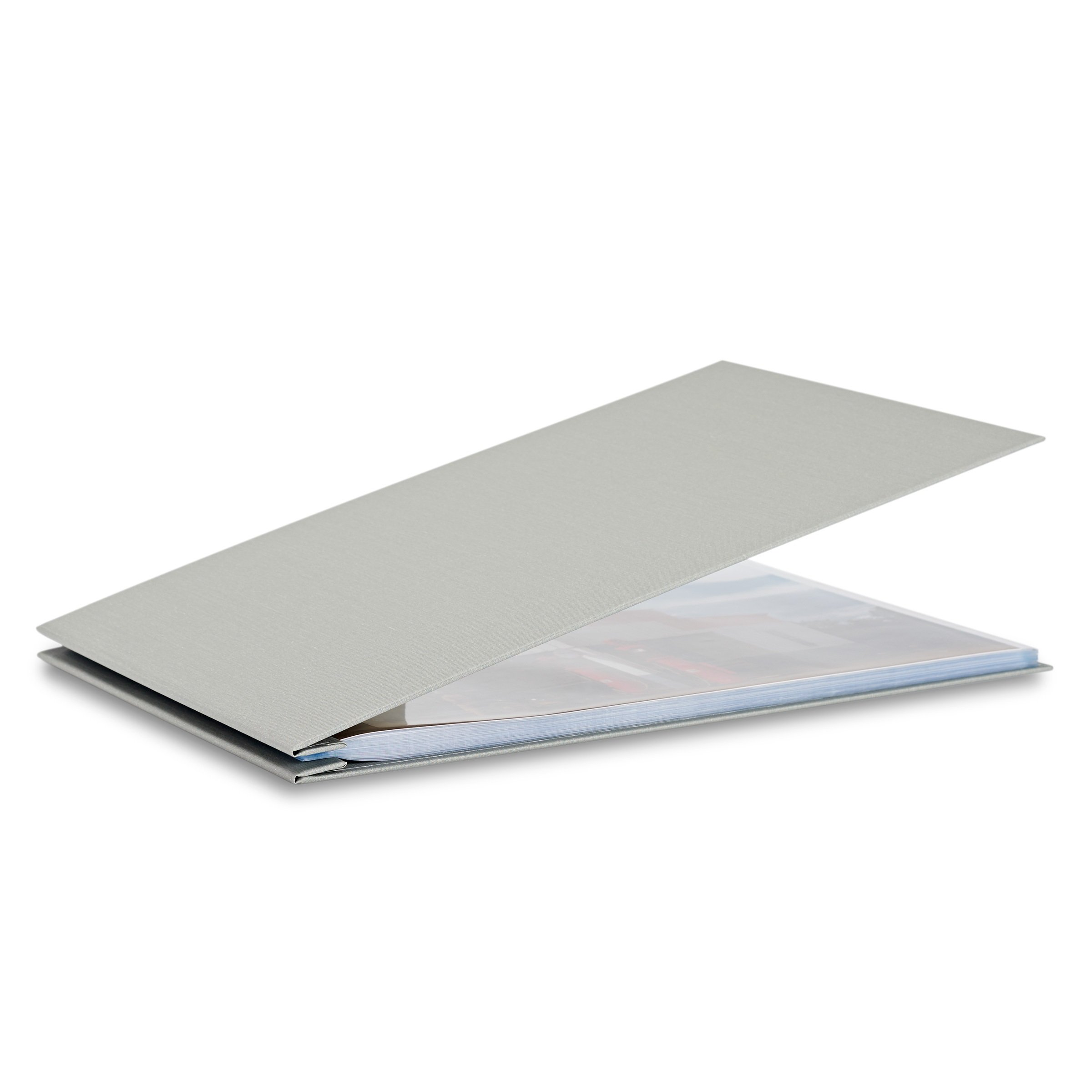 Pina Zangaro Bex 11x17 Landscape Screwpost Binder Gray, Includes 20 Pro-Archive Sheet Protectors (34062)
