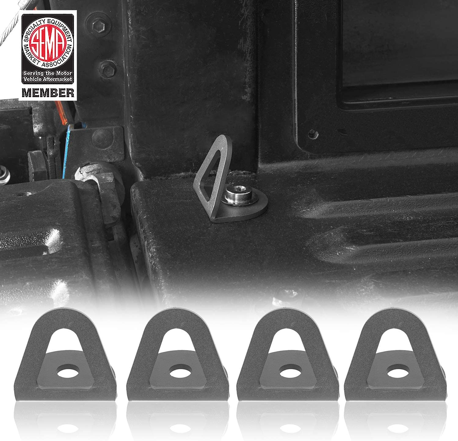 Pack of 4 Hooke Road Tacoma Bed Tie Down Hooks Compatible with Toyota Tacoma 2nd 3rd Gen 05-20 Pickup Truck