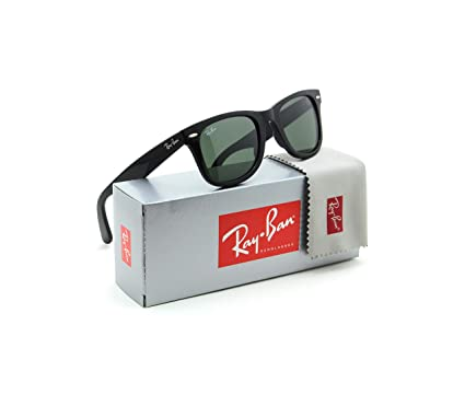 70b899c222 Image Unavailable. Image not available for. Color  Ray-Ban RB2140 901  Wayfarer Sunglasses Black   Crystal Green Lens 50mm