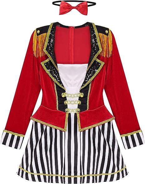 dPois Disfraz Director de Pista de Circo Mujer Vestido Corto ...