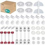 VACNITE 48 Piezas Kit de Seguridad para Bebes y Niños (12 Protectores Esquinas y Bordes, 4 Cerraduras Multifunción, 4 Cerradu