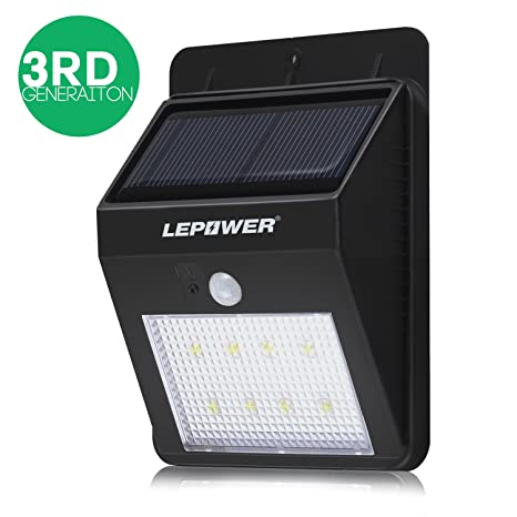 Ledes para LEPOWER sin cables con Sensor de movimiento para/Energía Solar al aire libre