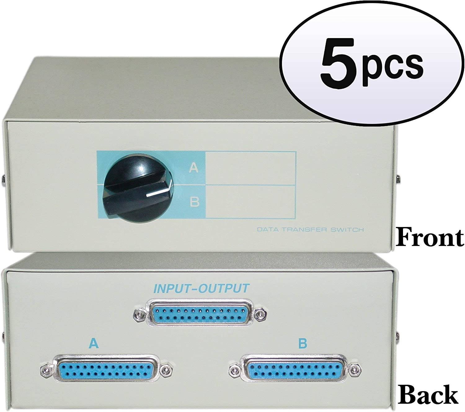 DB25 Female AB 2 Way Switch Box 5 Pack GOWOS