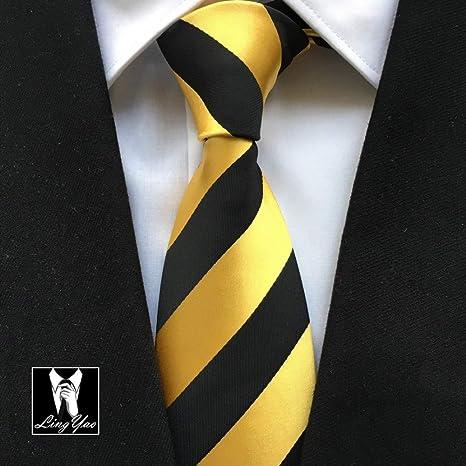 FDHFC Corbata Formal para Hombres Top Tejido Tejido Negro con ...