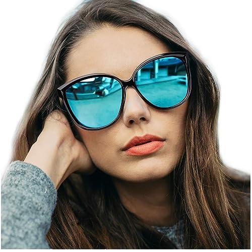 Amazon.com: LVIOE Gafas de sol de ojo de gato para mujer ...