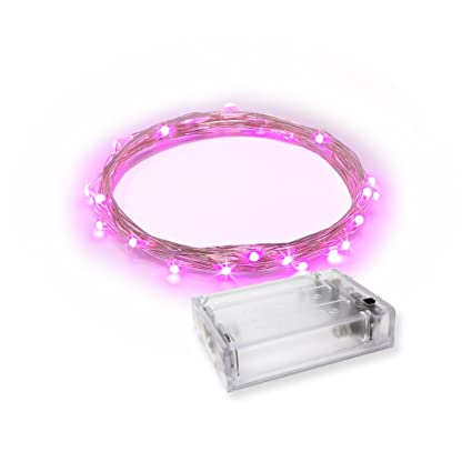 RTGS Products Pink Colored LED Lights Indoor Outdoor String Lights, Fairy  Lights Battery Powered Patio, Bedroom, Holiday Decor, etc (Pink Color 30 ...