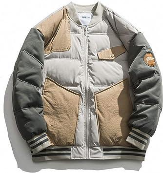 冬の野球のユニフォーム、綿でパッドを入れられた男性のステッチ、コントラストカラーのトレンド、より厚いレジャー、ジャケット
