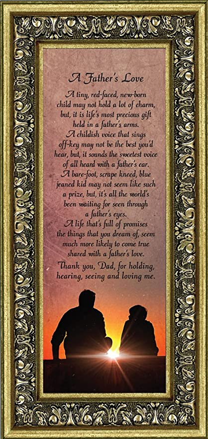 amazon com father s love meaningful picture frame gifts for dad