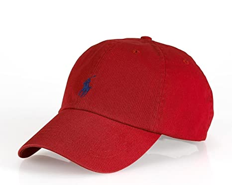 ralph lauren cotton chino baseball cap polo sports pony hat one size red navy weekend bear script