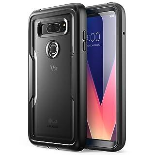 i-Blason Magma Series Case Designed for LG V30/V30 Plus/V30S (2017)/V35/V35 ThinQ 2017 Release, Heavy Duty Protection Shock Reduction Full Body Bumper Case with Built-in Screen Protector (Black)
