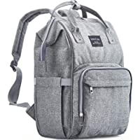 KiddyCare Diaper Bag Backpack, Multi-Function Baby Bag, Maternity Nappy Bags for Travel, Large Capacity, Waterproof, Durable and Stylish for Woman & Men, Gray