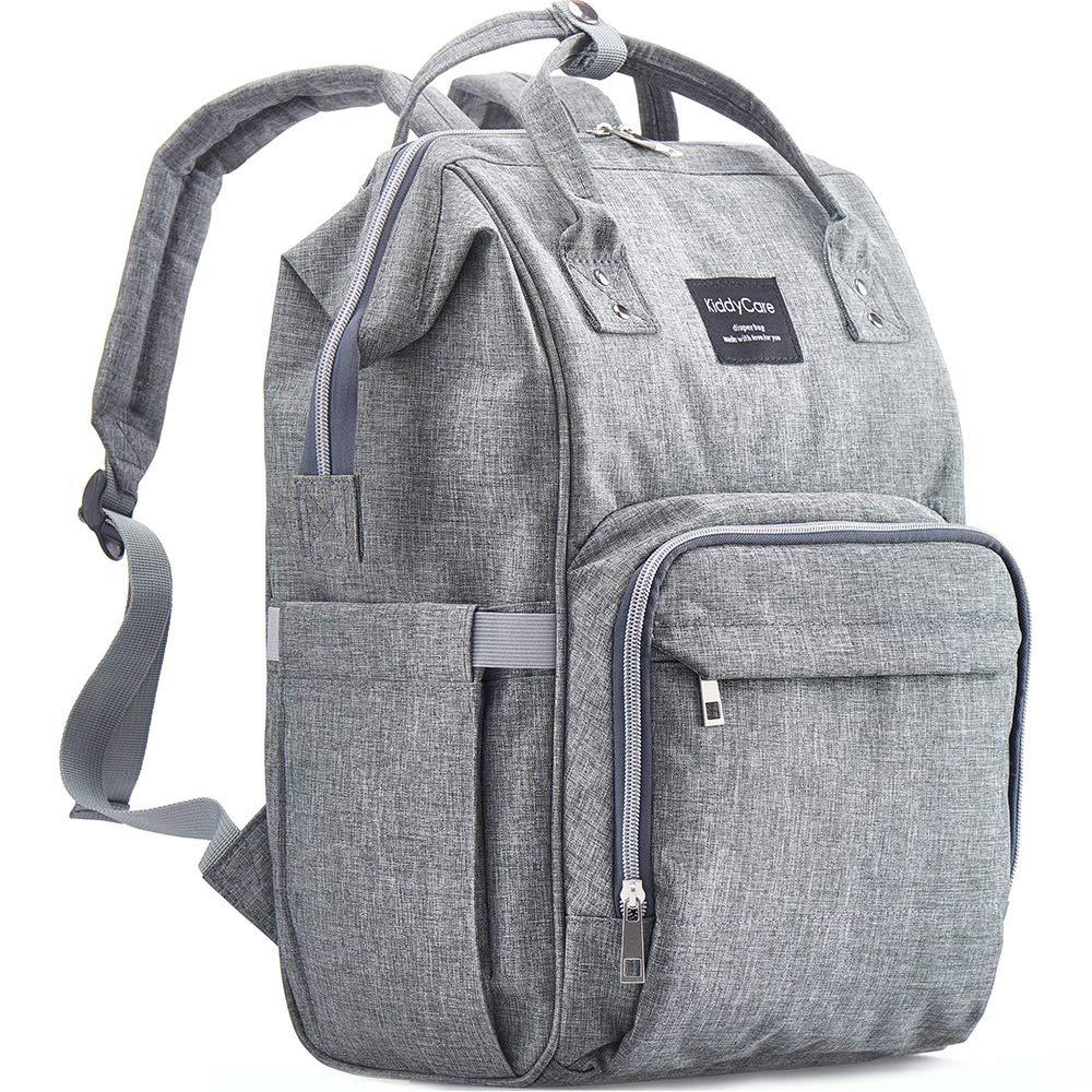 Diaper Bag Backpack by KiddyCare - Multi-Function Baby Bag