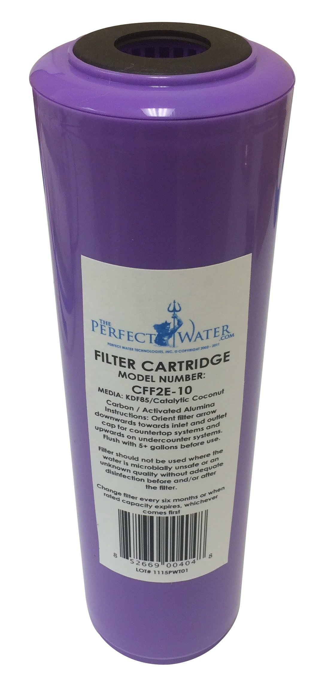 Home Master CFF2E-10 Jr F2 Elite Replacement Water Filter, Activated Alumina/GACC/KDF85 Fluoride Filter
