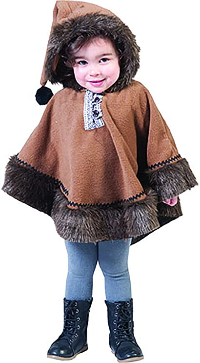 halloweenia - Disfraz de esquimal indios con capucha para ...