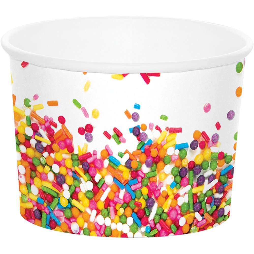 Creative Converting Treat Cups, Sprinkles (72-Count)