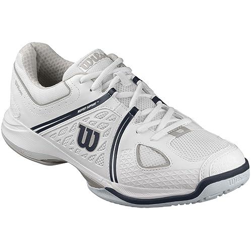 Wilson Nvision Scarpe da Tennis da Uomo, Bianco (White/Steel Grey/Coal Wil), 41 1/3 EU