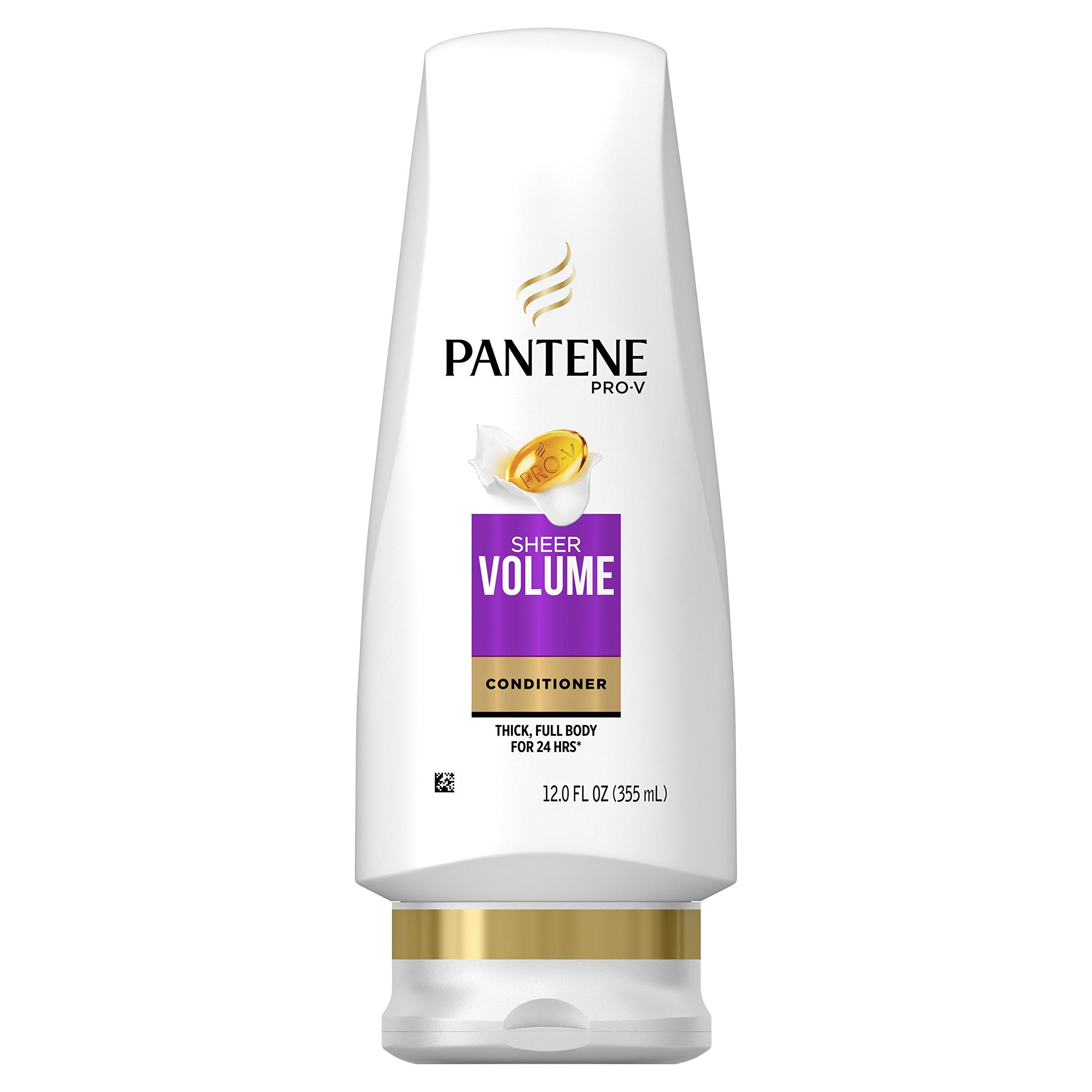 Pantene Pro-V Sheer Volume Conditioner, 12 fl oz (Packaging May Vary)