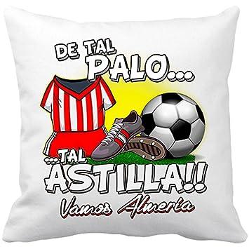 Cojín con relleno De tal palo tal astilla Almería fútbol - Blanco, 35 x 35 cm: Amazon.es: Hogar