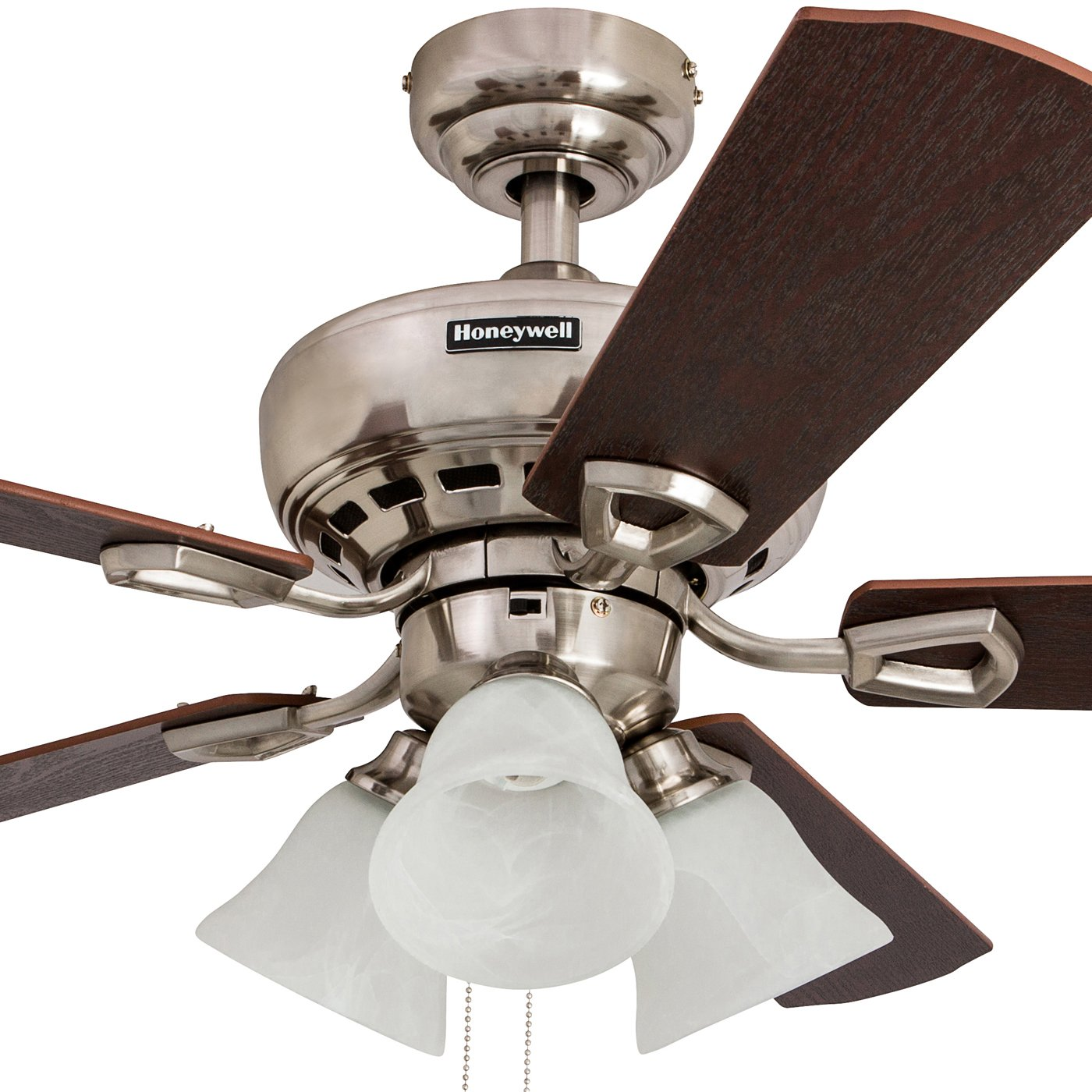 Honeywell Ceiling Fans Honeywell Springhill 50184 Sloped Ceiling Fan, Brushed Nickel