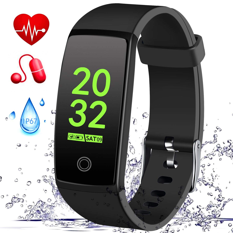 MSDJK Pulsera Actividad, IP 67 Pulsera Impermeable, perseguidor Actividad el Monitor del Ritmo cardíaco y presión Arterial, Reloj Inteligente podómetro ...