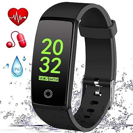 MSDJK Pulsera Actividad, IP 67 Pulsera Impermeable, perseguidor Actividad el Monitor del Ritmo cardíaco