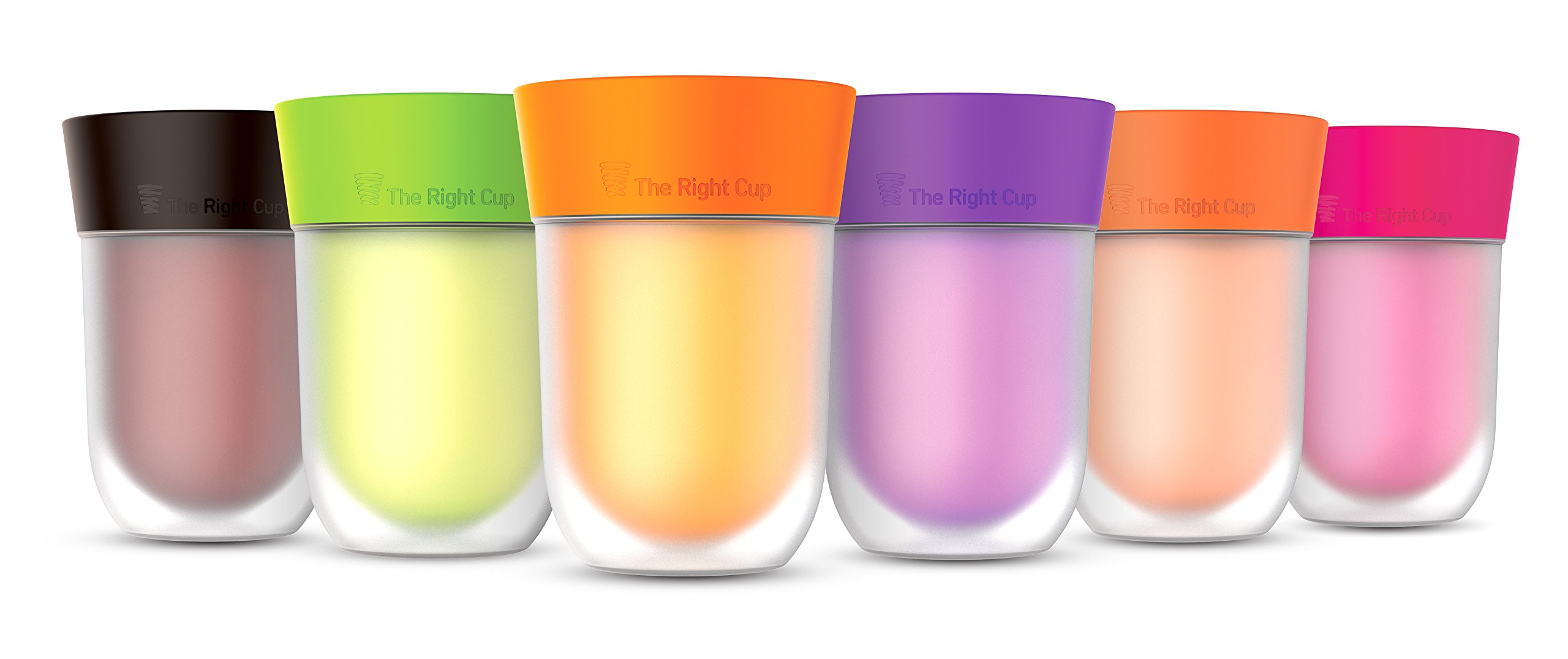 Flavor Enhancing water Cup- Pack of 6 flavored cups - Orange, Cola, Berry, Apple, Peach and Grape. Helps you drink water instead of soda. by The Right Cup by The Right Cup (Image #10)