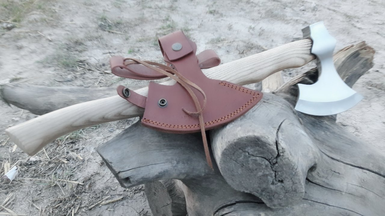 MDM CUSTOM HAND MADE TOMAHAWK VIKING HATCHET BEARED WITH ASH WOOD HANDLE - RAZOR SHARP by MDM (Image #2)