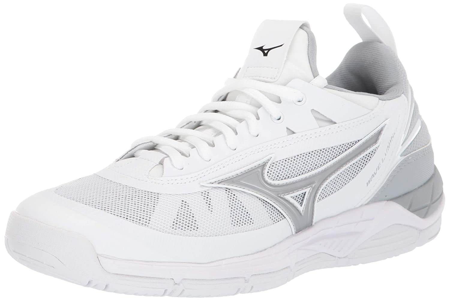 White-silver Mizuno Womens Wave Luminous Indoor Court shoes