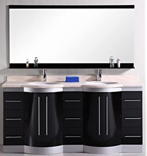 Design Element DEC077B-W London 72-Inch Double Sink Vanity Set in ...