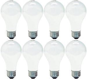 GE Lighting 66247 Soft White 43-Watt, 620-Lumen A19 Light Bulb with Medium Base, 8-Pack