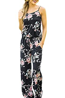 175bac6c45c Minipeach Women s Solid Color Backless Sleeveless Wide Long Pants Jumpsuit  Rompers Black