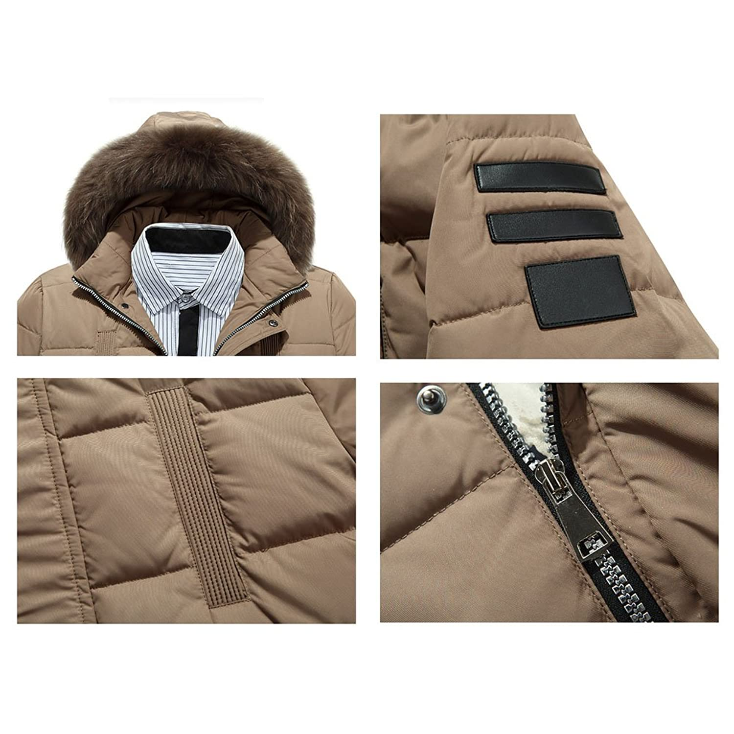 Highdas Men's Jacket Down Coat Parka - Men Warm Detachable Hooded Thick  Padded Jacket Outwear Windproof Winter Coats: Amazon.co.uk: Clothing