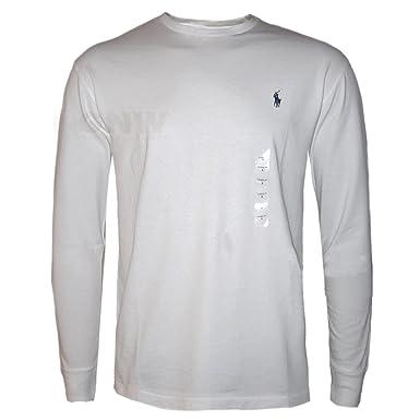 Ralph Lauren Hommes Col Rond Manches Longues T-Shirt Noir, Gris, Marine, Blanc  Taille XS, S, M, L,XL,XXL,XXXL  Amazon.fr  Vêtements et accessoires 1e4c44b49a99