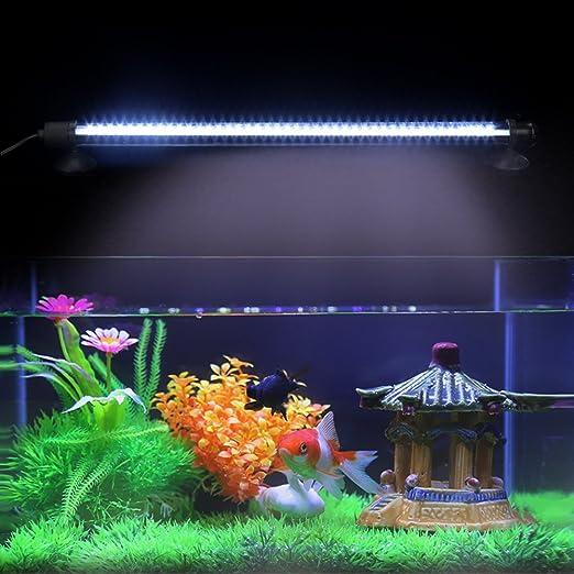 Redonda para Pared de pecera Sorand L/ámpara para pecera Luces Decorativas Mini luz Multicolor para Acuario
